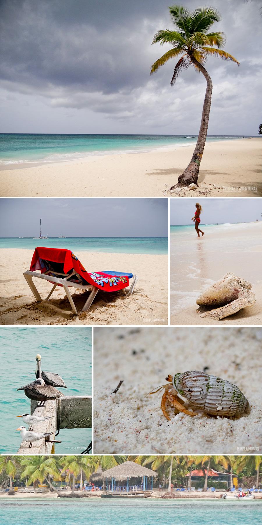 Mesmo com o tempo ruim dá pra ver que a Ilha Saona é um lugar incrível. Não acham?