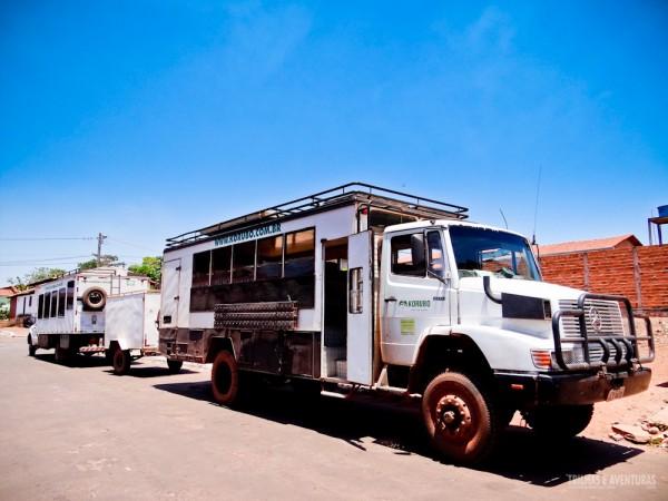 Caminhão da Korubo no Jalapão