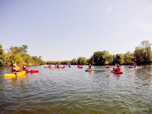 Canoagem no Rio Novo, uma divertida atração do Jalapão
