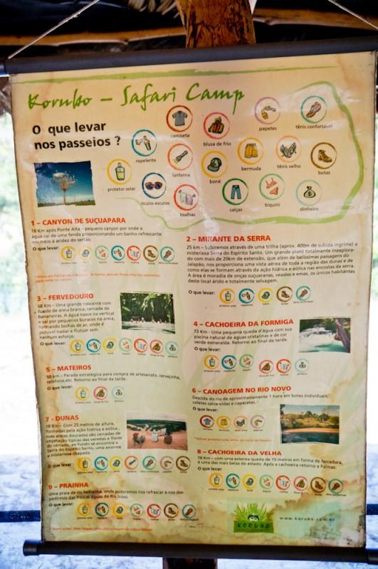 Dicas do que levar para os passeios diários no Jalapão