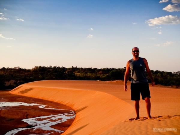 Registrando esse momento único nas dunas douradas do Jalapão