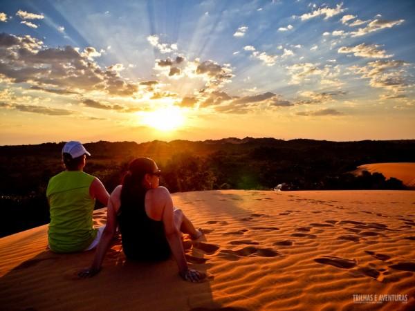 Um inesquecível pôr-do-sol visto das dunas do Jalapão