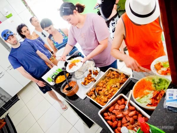 Almoço em Ponte Alta - comida caseira com gosto da casa da vovó