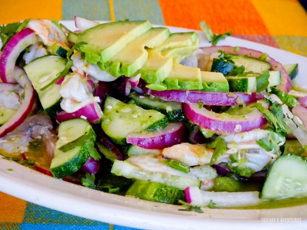 Aguacate, um dos pratos que mais gostei no México