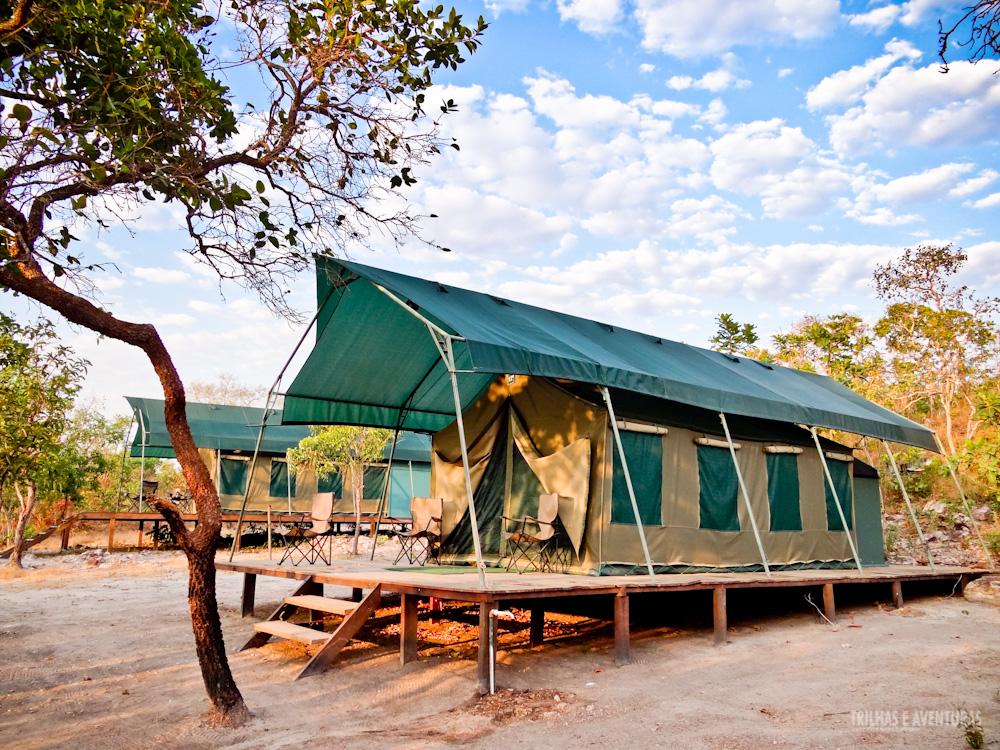 Barraca família do Safari Camp da Korubo no Jalapão