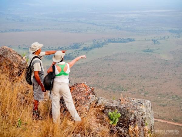 Do alto da Serra do Espírito Santo é possivel avistar boa parte do cerrado do Jalapão