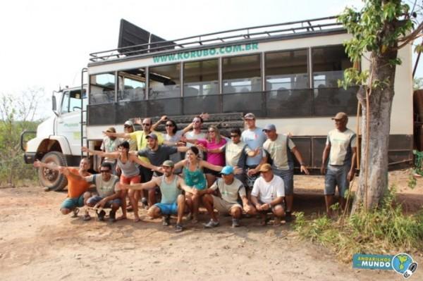 Adventure Bloggers com a equipe da Korubo Expedições