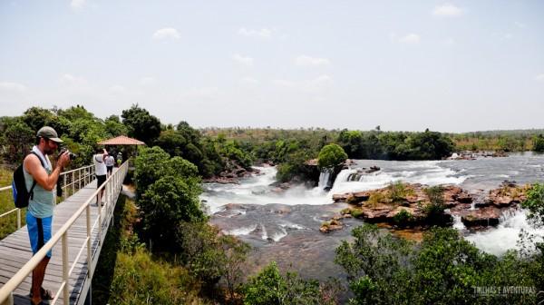 A Cachoeira da Velha me lembrou muito as Cataratas do Iguaçu. Só que muito menor!
