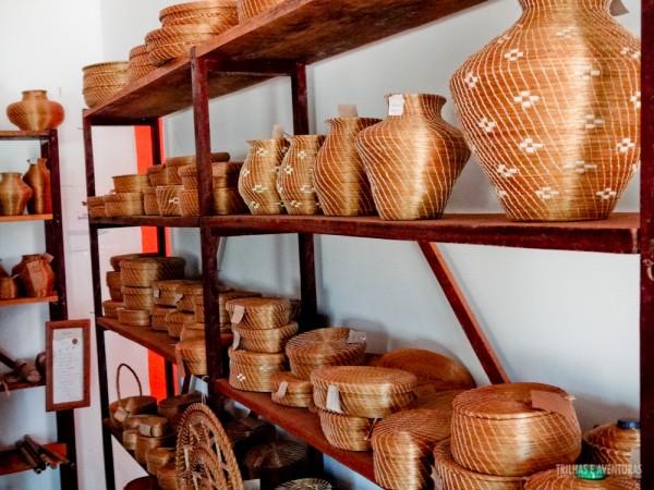 Vasos feitos de Capim Dourado