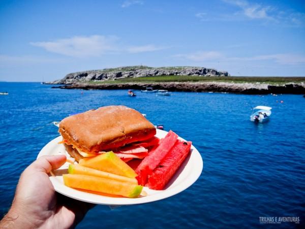 Almoçar com esse visual das Ilhas Marietas não é nada mal, né?