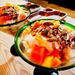 Salada de frutas orgânicas no café da manhã