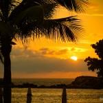 Pôr-do-sol visto do Hotel St. Regis Punta Mita, no México