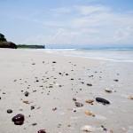 Pedras e conchas na Playa La Lancha