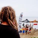 A competição de surf não aconteceu por falta de ondas neste dia