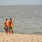 Caminhando na areia da Praia de Bucerias