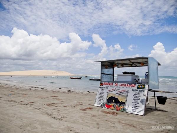 Barraquinhas de caipifrutas sem filas na praia