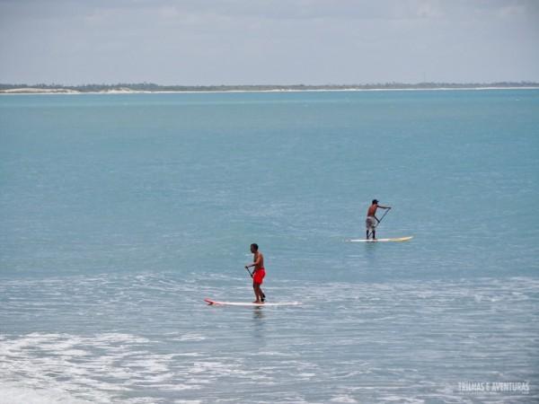 Aprender kite, surf, wind e stand up paddle (SUP) é perfeito em Jeri