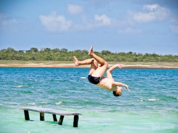 Arriscando umas manobras na Lagoa do Paraíso