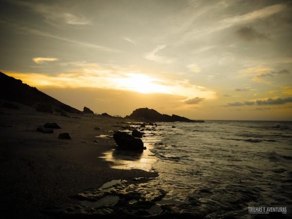 Despedida do sol na Pedra Furada em Jericoacoara
