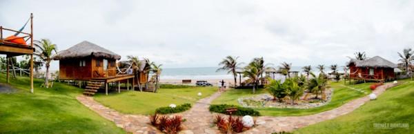 Panorâmica da Pousada VillaMango Beach Bungalows, em Icairizinho de Amontada