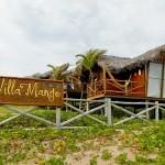 Bangalô frontal da Pousada VillaMango Beach Bungalows