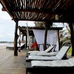 Área de descanso da Pousada VillaMango Beach Bungalows