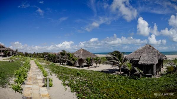 São 12 Bangalôs Praia com vista para a Praia do Preá