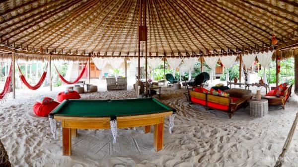 Panorâmica do lounge da Pousada Vila Kalango