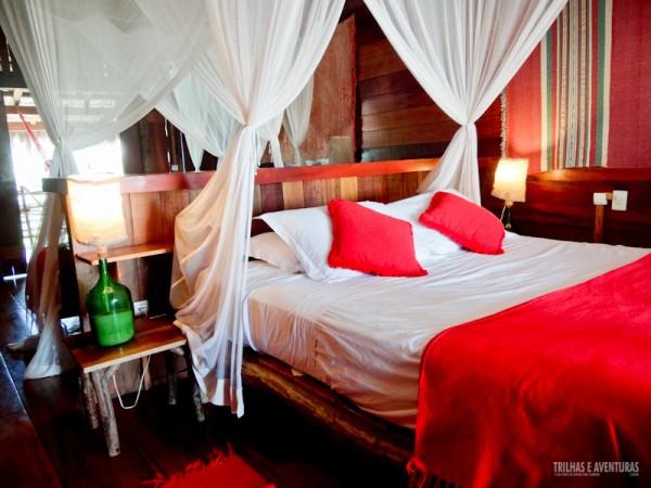 Cama de casal da Palafita Comfort de 45m²
