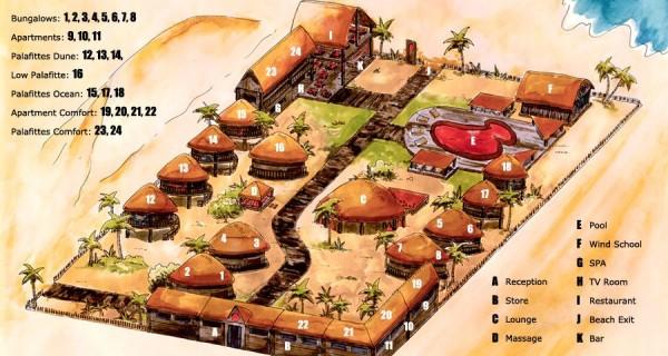 Mapa da Pousada Vila Kalango