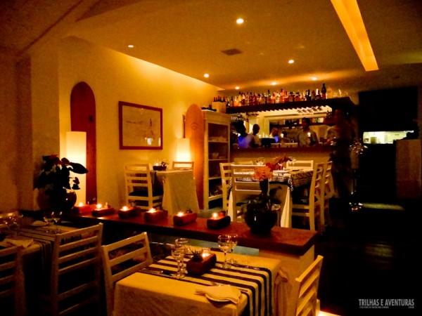 Ambiente intimista do Restaurante BZ em Búzios