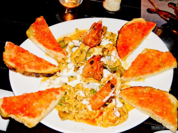 Revuelto de Gambas, prato especial para grupos degustarem os sabores da Espanha