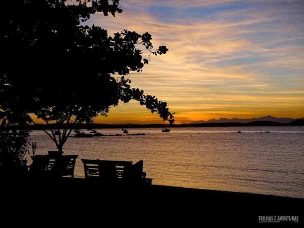 O Lounge do restaurante Valdivia é um excelente local para curtir o pôr-do-sol
