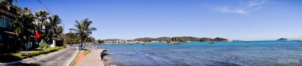 Panorâmica da Orla Bardot e Praia da Armação em Búzios
