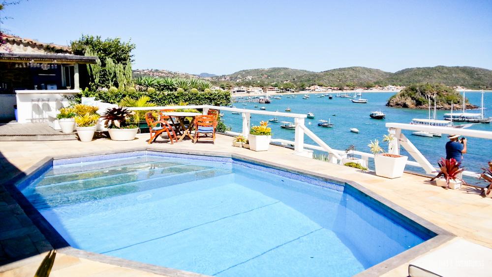 Vista da piscina da Pousada Byblos em Búzios - RJ