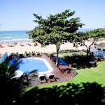 Vista do meu quarto na Pousada Maravista, Praia de Geribá, em Búzios – RJ
