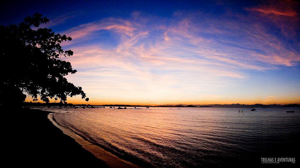 Pôr-do-sol no Porto da Barra, o novo Polo Gastronômico de Búzios