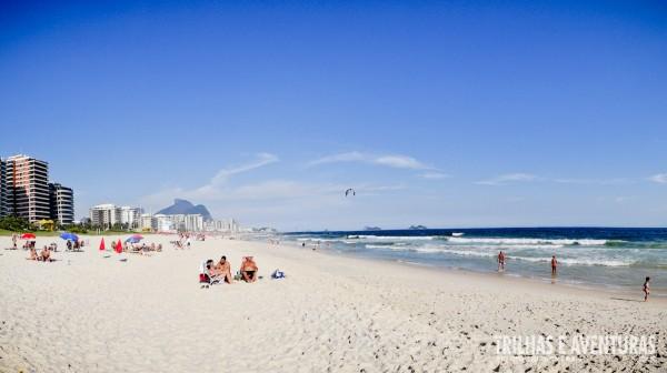 A praia da Barra da Tijuca é sempre gostosa para curtir com a família e amigos