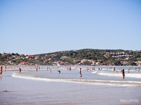 Vista do canto esquerdo da Praia de Geribá, em Búzios