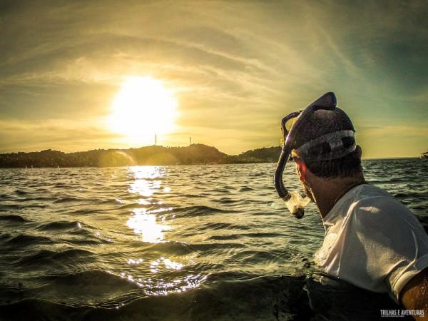 Pôr-do-Sol no mergulho pra Ilha do Caitá