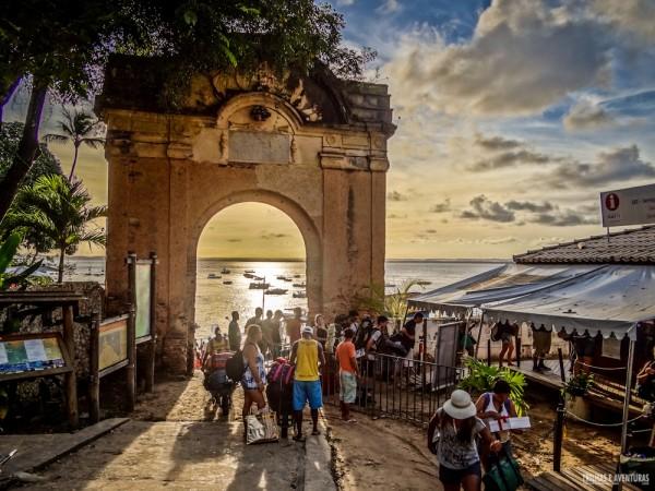 Pôr-do-Sol no portal do Morro de São Paulo