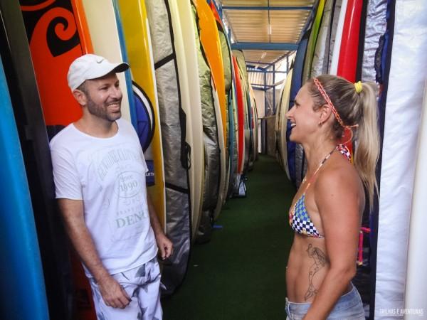 Guarderia de pranchas de SUP no Yacht Clube da Bahia