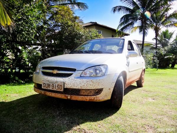 Olha só como nosso carro chegou em Taipu de Fora