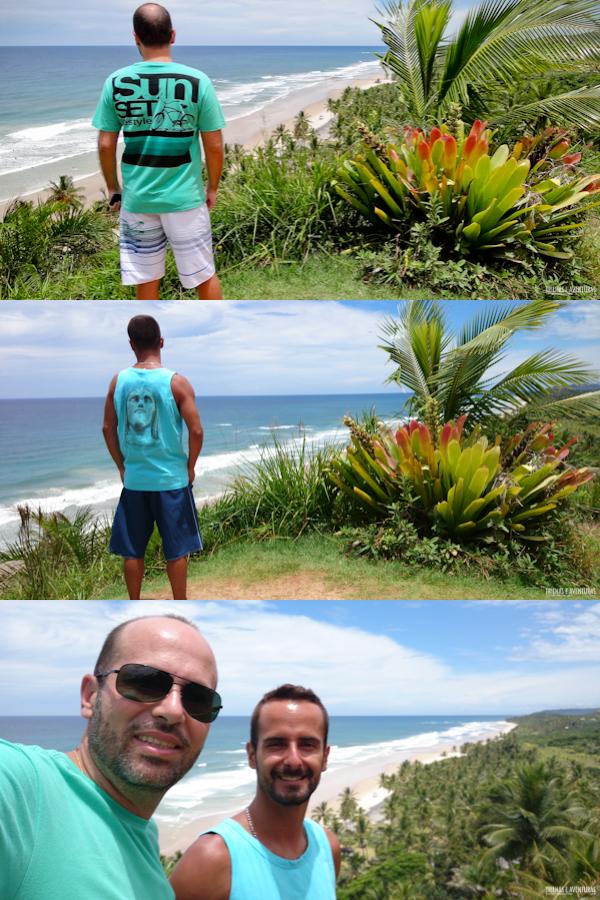 Mirante na Praia de Itacarezinho, com as roupas da Kayland