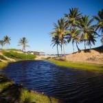 Uma das muitas lagoas na Praia de Santo Antônio
