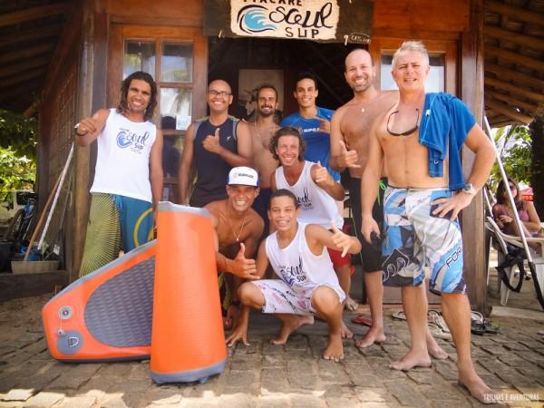 Galera show de bola! Obrigado aos amigos da Itacaré Soul SUP