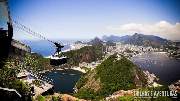 Zona Sul vista do alto do Pão de Açúcar no Rio de Janeiro