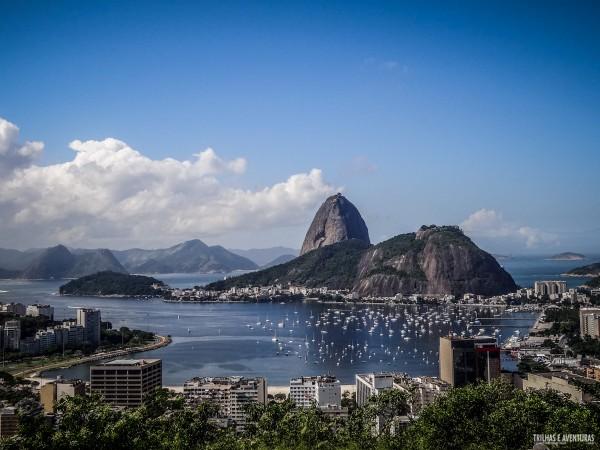 Pão de Açúcar visto do Mirante da Dona Marta, em Botafogo