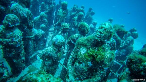 Estátuas submersas no MUSA Isla Mujeres
