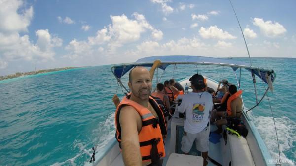 A caminhos dos points de mergulho em Isla Mujeres